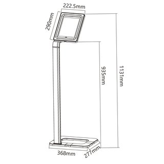 Universal tablet floor stand lockable, PAD-STAND-3