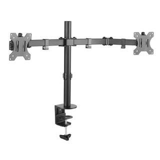 Double joint monitor arm for 2 screens, ECO-E02