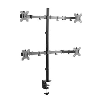 Double joint monitor arm for 4 screens, ECO-F04