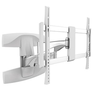 Aluminum full-motion double arm TV wall mount white, TOPLINE-464-W
