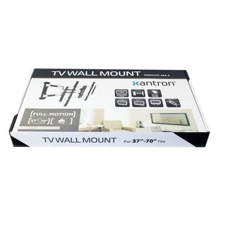 Aluminium full-motion wall mount 37-70, PREMIUM-463-S