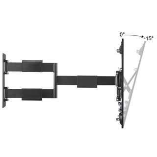 Slim full-motion curved & flat panel TV wall mount for 32-60, SLIMLINE-A-466-B